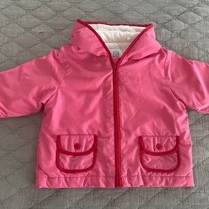 Baby Gap lightweight hooded infant jacket 6-12M